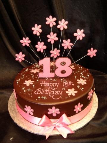 Girls Cake 3 Exploding Pink Choc Daisies Heidelberg Cakes